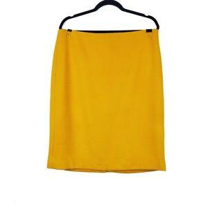 Talbots | Golden Yellow Wool Blend Pencil Skirt 12